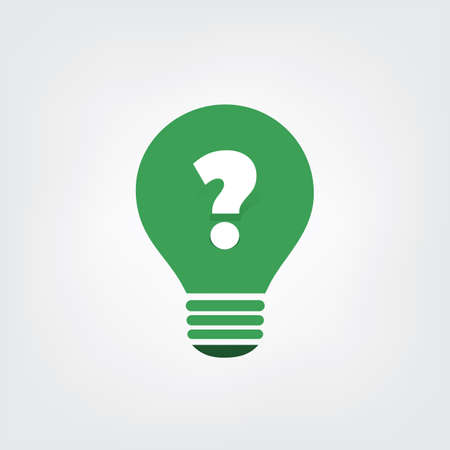 questions: Sustainable Life - Do You Have Questions - Bulb Icon Concept Design