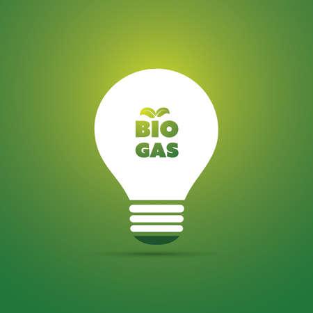 biologia: Bio Gas Energy Concept Design - Icono del bulbo