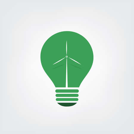 green power: Green Eco Energy Concept Icon - Wind Power