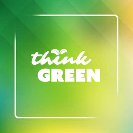 gaia: Think Green - Eco Card Design Template Illustration