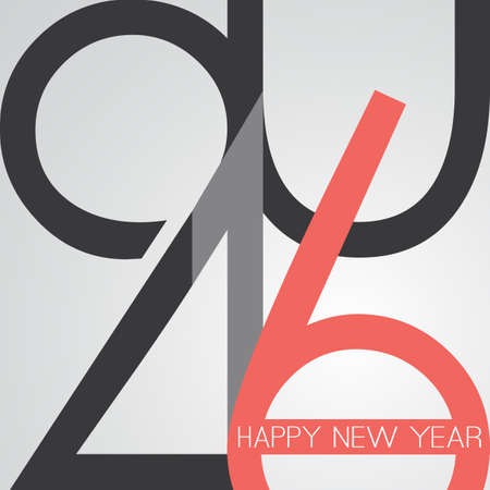 sixteen year old: Best Wishes - Abstract Retro Style Happy New Year Greeting Card or Background, Creative Design Template - 2016