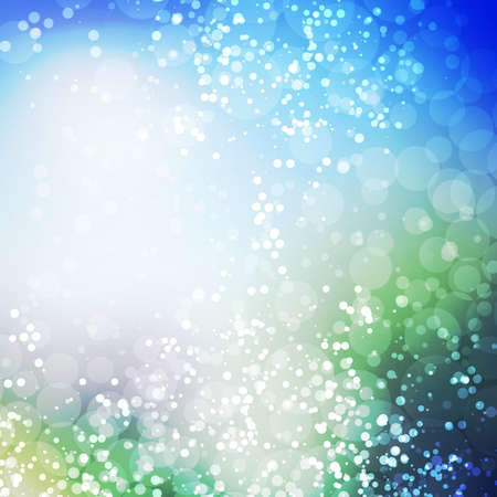 blue star: Sparkling Cover Design Template with Abstract, Blurred Background - Colors: Blue And Green