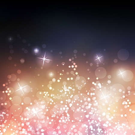 Sparkling Cover Design Template with Abstract, Blurred Background - Colors: Blue, Gold, Purple Illustration