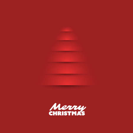 Modern Abstract Christmas Greetings Card Design With Christmas Tree Background