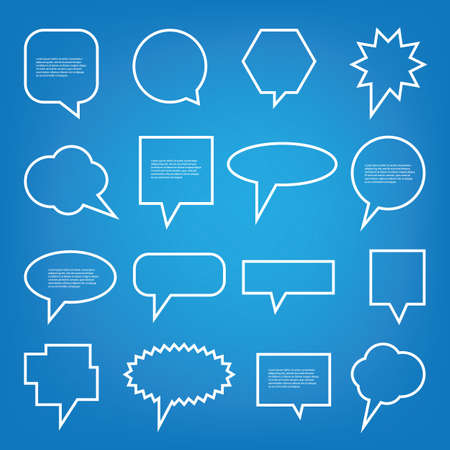 vector sample: Collection of Blank Empty Speech And Thought Bubble Vector Designs With Sample Text