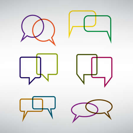 speech bubble vector: Collection of Blank Empty Colorful Speech And Thought Bubble Vector Designs
