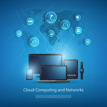 telecommunication: Cloud Computing And Networks Design Concept