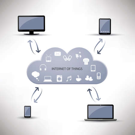 Internet Of Things, Digital Home And Networks Design Concept With Icons  Vector