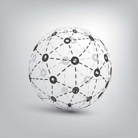 Networks - Globe Design Concept