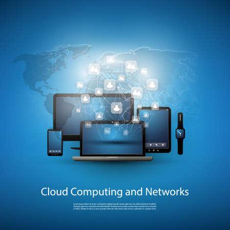 Cloud Computing Concept Met verschillende apparaten