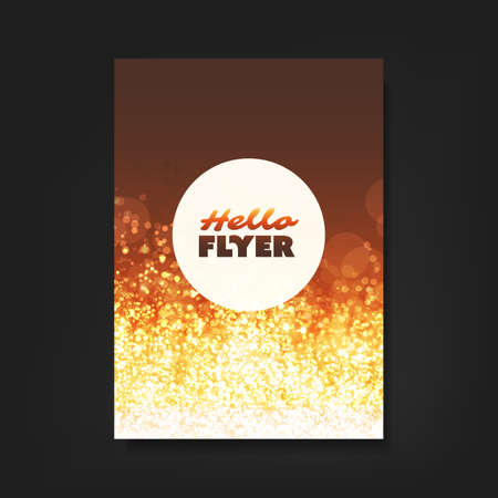 ad: Hello Flyer - Flyer, Card or Cover Design with Blue Sparkling Patter Background - Party, Corporate Identity, Christmas, New Year or Ad Design Template