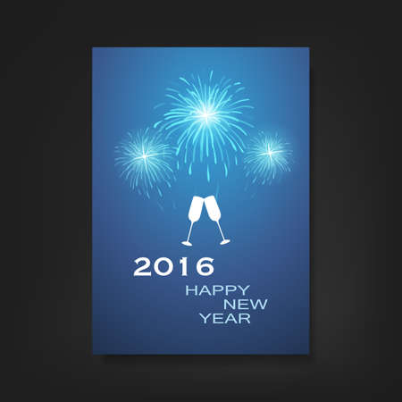 event poster: New Year Flyer or Cover Design - 2016