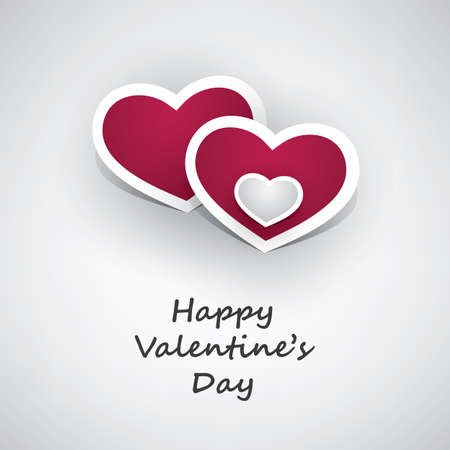 card design: Valentines Day Card - Design Illustration for Your Greeting Card