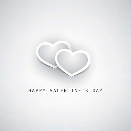 bodas de plata: Valentines Day Card - Design Illustration for Your Greeting Card