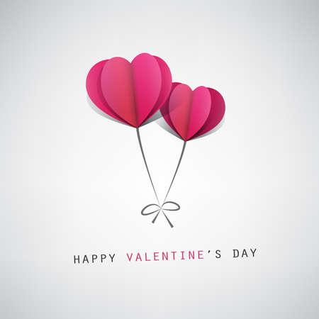 Valentinstag-Karte Design-Vorlage mit Herz-geformte Ballone