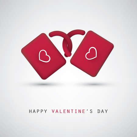 love card: Valentine and Wedding Card Design With Padlocks