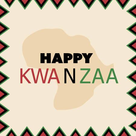 swahili: Happy Kwanzaa Greeting Card Design Template