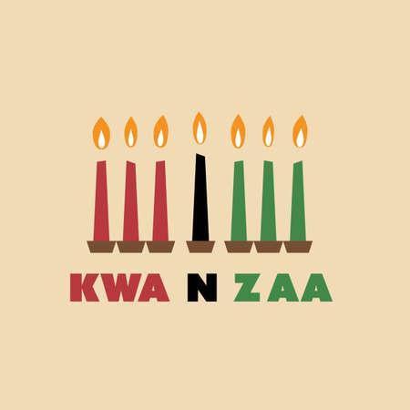 kwanzaa: Happy Kwanzaa Greeting Card Design Template