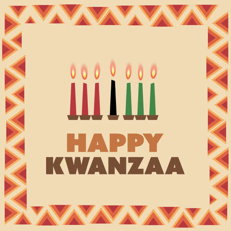 Happy Kwanzaa Greeting Card Design Template