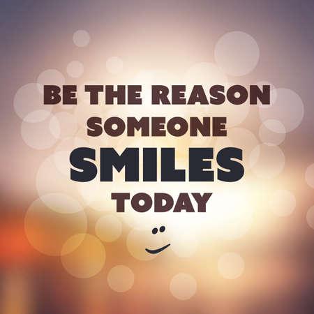 Der Grund Jemand lächelt noch heute - inspirierend Zitat, Slogan, sagen die auf eine abstrakte gelbem Grund Vektorgrafik