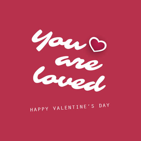 love card: You Are Loved - Valentines Day Card - Design Illustration