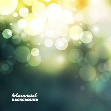 Cover Design Template with Abstract Blurred Colorful Background - Green and Gold