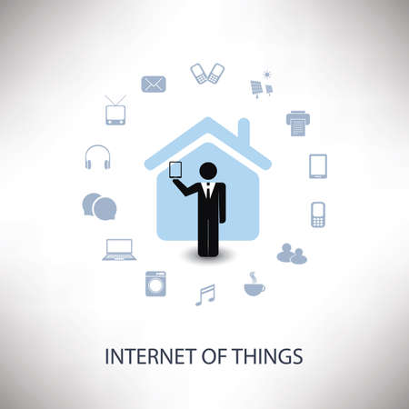 house icon: Internet Of Things Concept Design With Various Icons