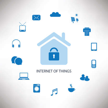 Internet Of Things Concept Design With Various Icons