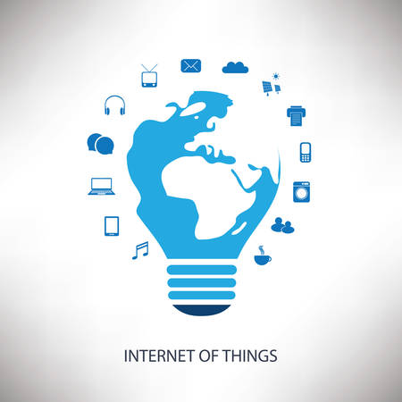 things: Internet of Things or Networks Concept Design - Business Vector Illustration