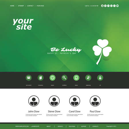 sidebar: Website Design Template For Your Business - St. Patricks Day Illustration