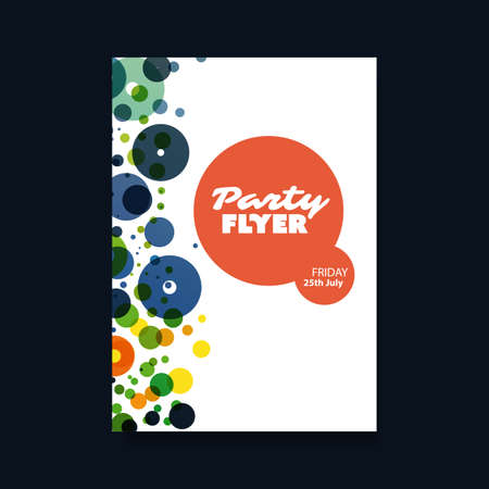 rhythm: Party Concept With Abstract Background - Flyer or Cover Design Illustration