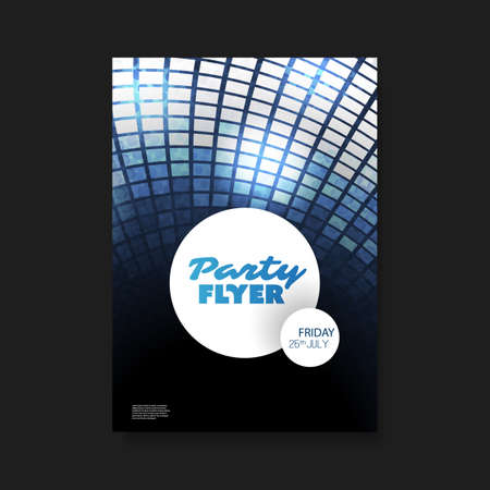 blue party: Party Flyer or Cover Design With Blue And White Background