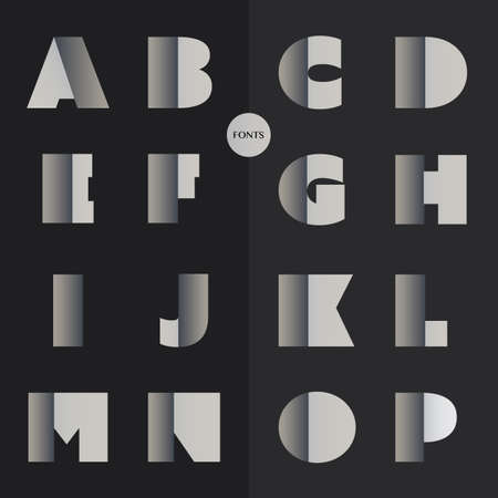 font design: Art Deco Font Set - Vintage Vector Design, Retro Typography