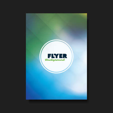 smooth: Abstract Flyer or Cover Design Template with Blurred Background Illustration