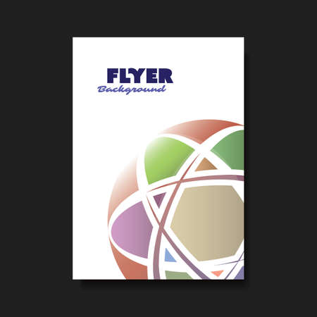 cover art: Cover Design Template with Globe Design Background - Colorful