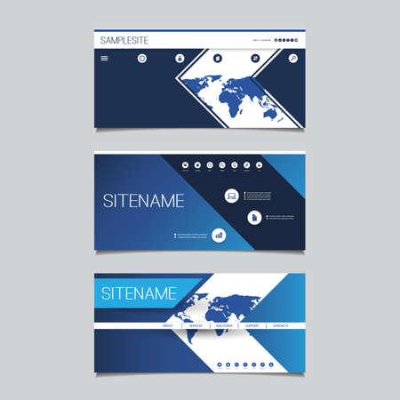 Web Design Elements - Header Design Set