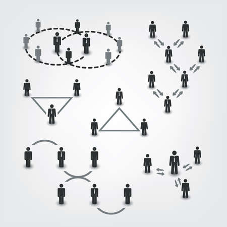 business leader: Networks, Connections: Social, Business, Leader Icons