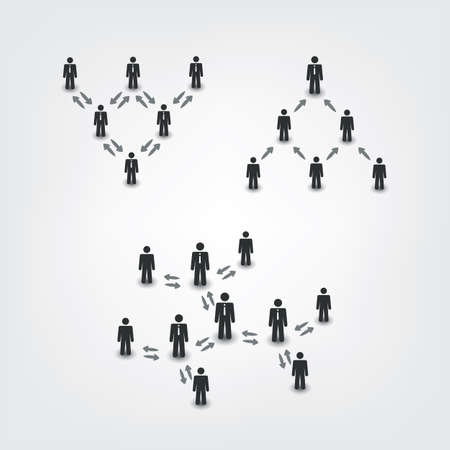 business leader: Networks, Connections: Social, Business, Leader Icons - Pyramid