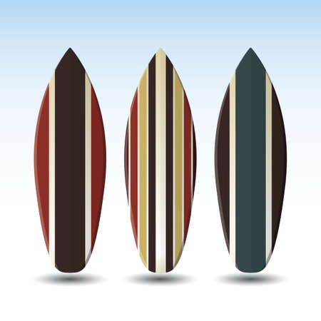 surfboards: Vector Surfboards Design With Striped Pattern