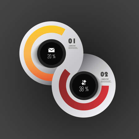 out of order: Infographics Cover - Colorful Circle Designs with Icons