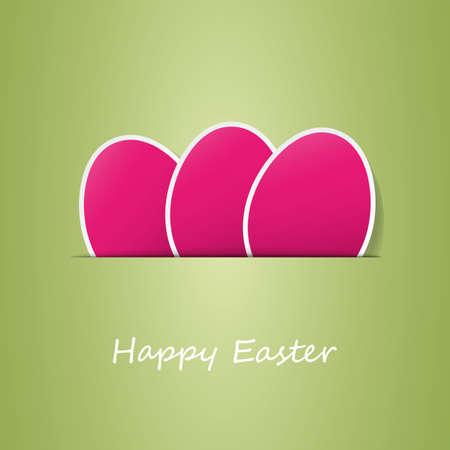 invitation cards: Happy Easter Card Illustration