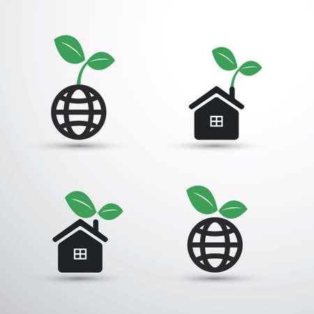Eco Icon Set Illustration