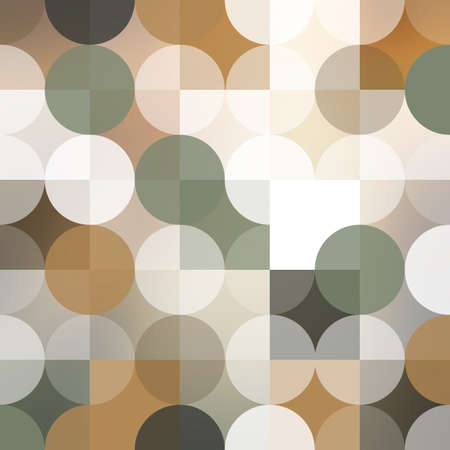 Abstract Background Design With Geometric Pattern, Pastel Colored Circles