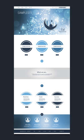 website template: Website Template Design - Eid Mubarak Theme Illustration
