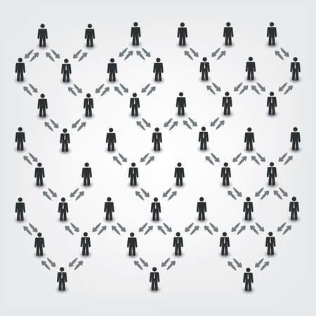 business leader: Networks, Connections: Social, Business, Leader Theme Illustration