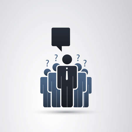 real leader: The Real Leader - Business Men Icons Illustration