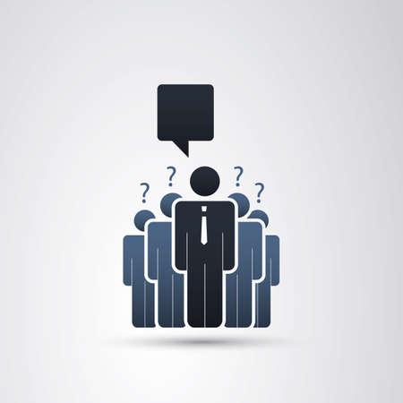business leader: The Real Leader - Business Men Icons Illustration