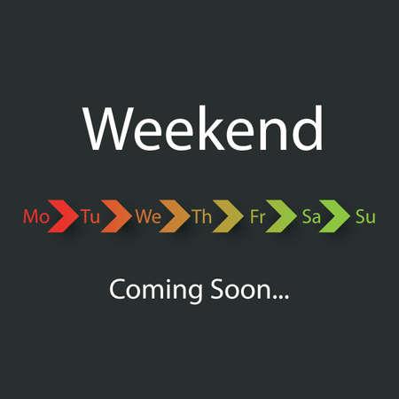 positiveness: Weekend Coming Soon - Vector Illustration
