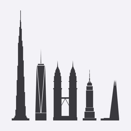 skyscraper: Collection of Skyscraper Icons