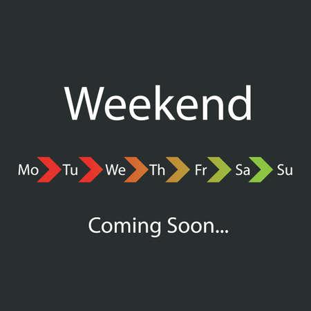 positiveness: Weekend Coming Soon Illustration